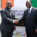 les présidents Ali Bongo et Alassane Ouattara by re.ivoire-blog.com cc
