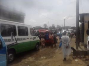 Fouille de véhicules à Yopougon Crédit photo : Christ Koffi