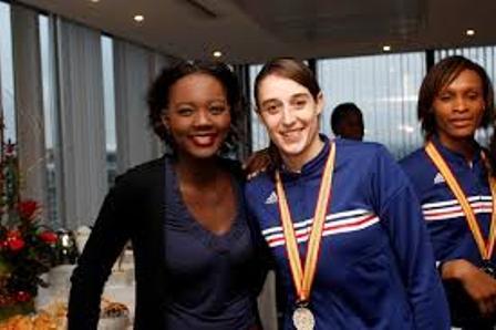 Rama Yade en compagnie d'une athlète française de flirck.com CC