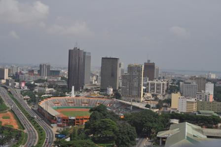 Vue d'en haut d'Abidjan (Côte d'Ivoire) de flickr.com CC