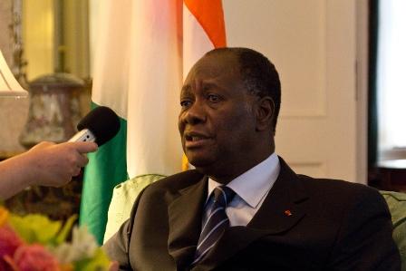 Alassane Ouattara, président de la République de Côte d'Ivoire de Flickr.com
