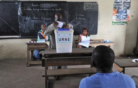 Votant ivoirien, Crédit photo, la croix.com