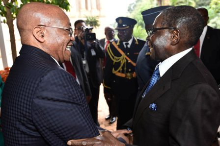 8 President Jacob Zuma welcomes President Robert Mugabe on a State Visit ... flickr.com
